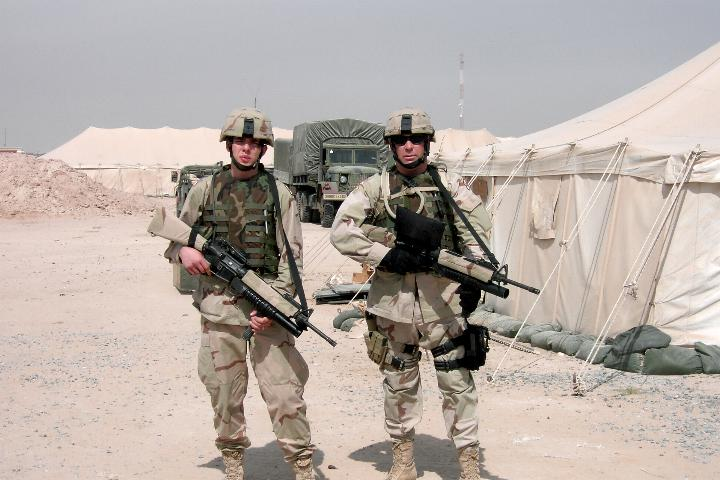 M203 grenadiers in Iraq.  Photographs by an American soldier of C Co, 1/252 Army Reserve Battalion.